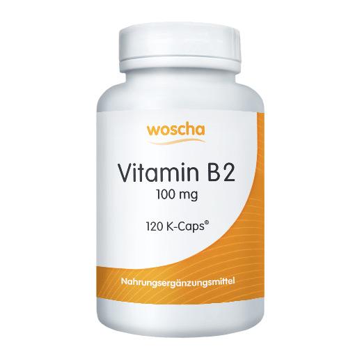 woscha Vitamin B2 100mg  120 K-Caps® (21g)(vegan)