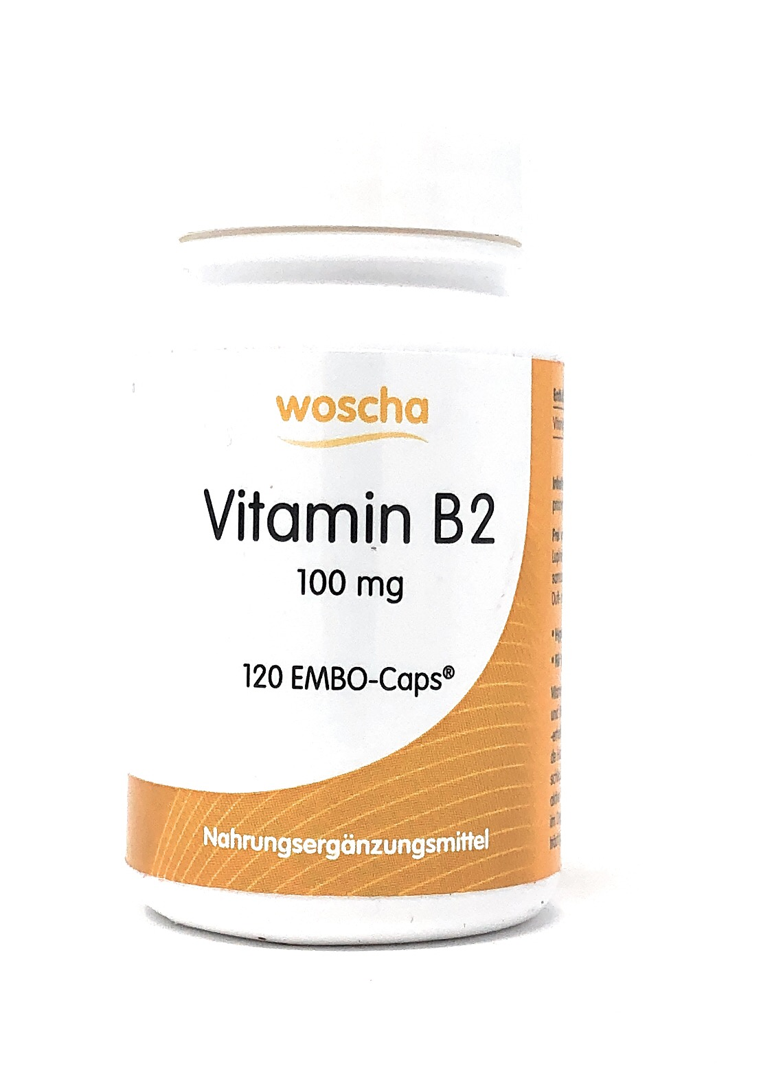 woscha Vitamin B2 100mg  120 EMBO-Caps® (21g)(vegan)