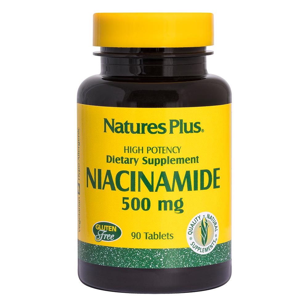 Natures Plus Niacinamid (Vitamin B-3) 500mg 90 Tabletten (90,3g)