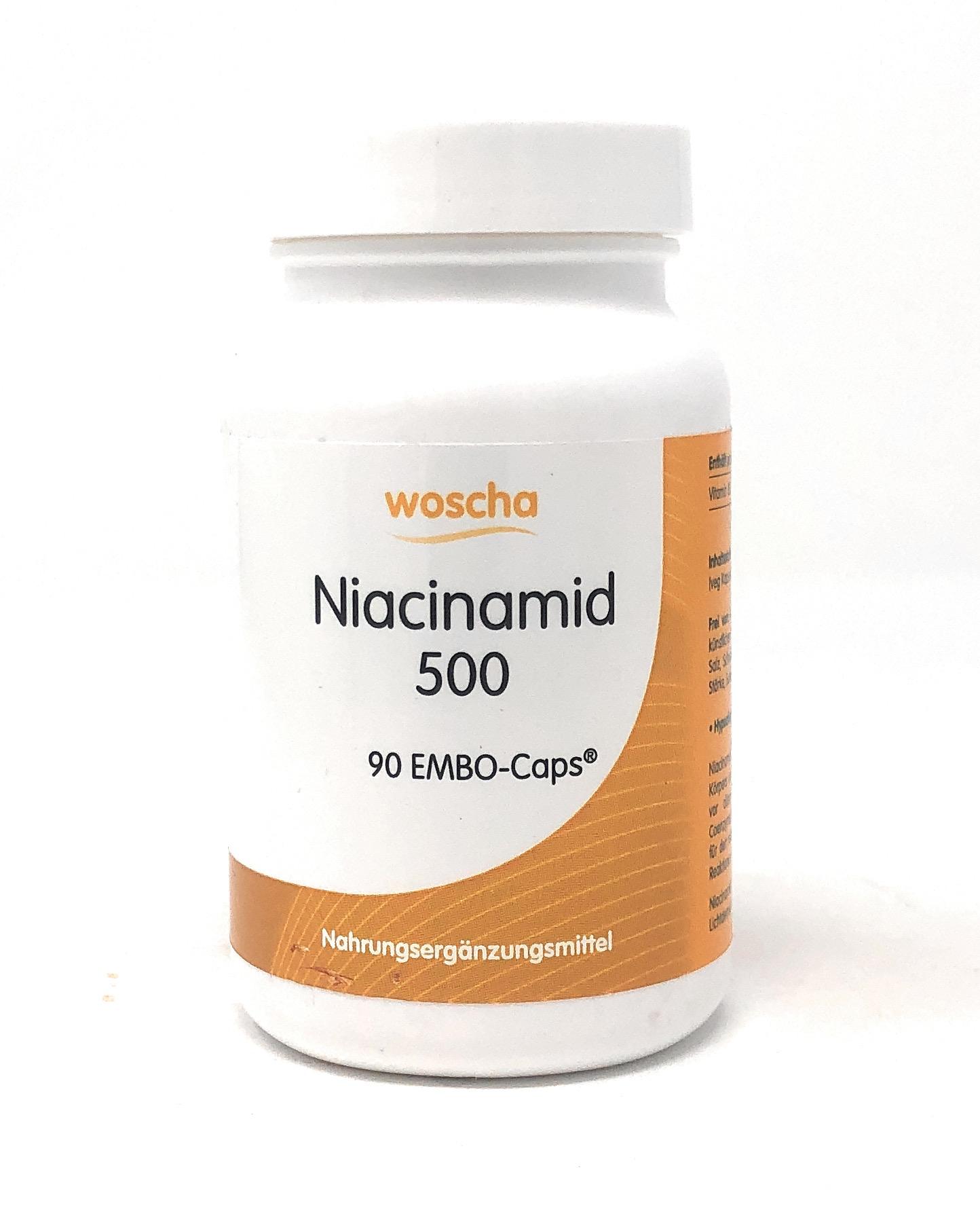 woscha Niacinamid 500 90 Embo-Caps (vegan)(53g)