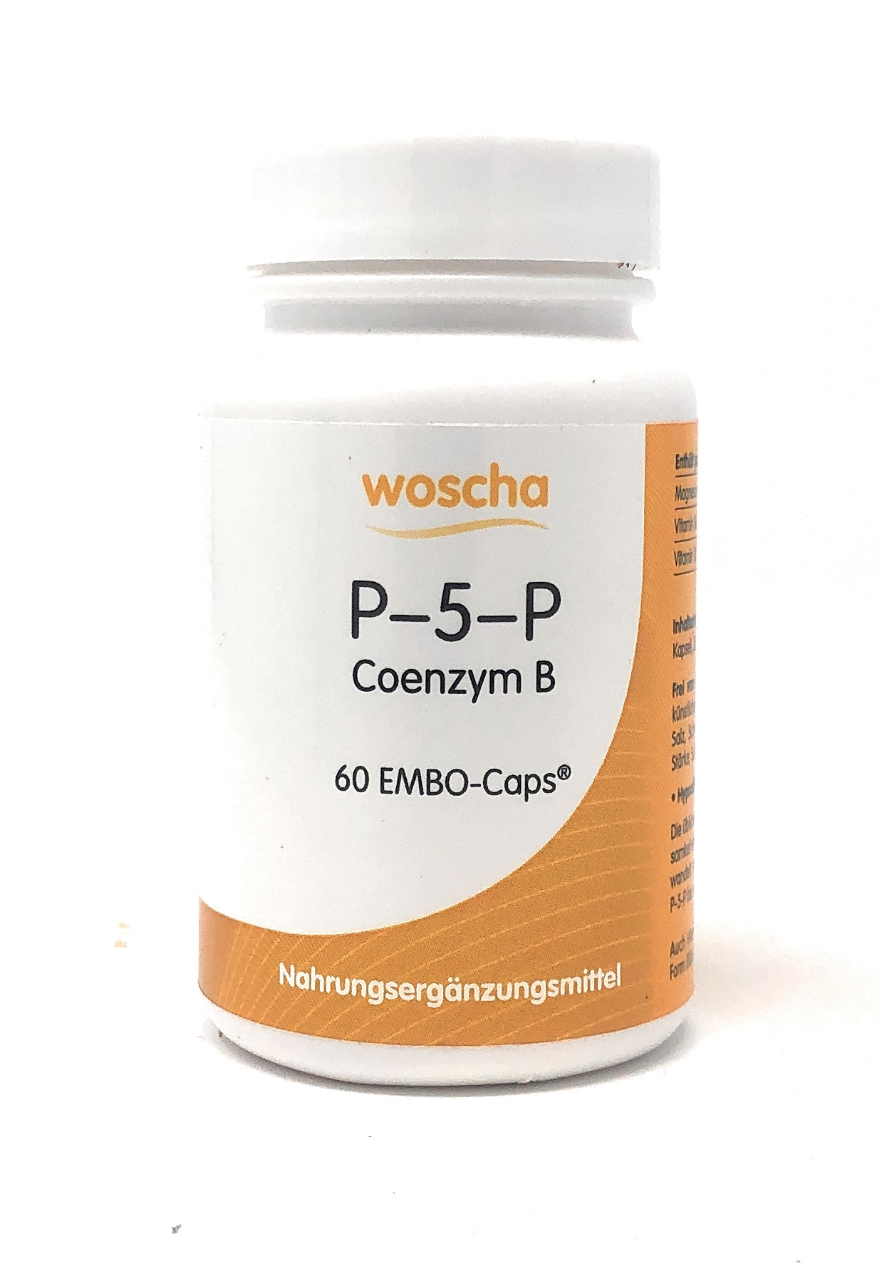 woscha P-5-P (50mg Co-Enzym B 6) 60 Embo-CAPS® (32g) (vegan)
