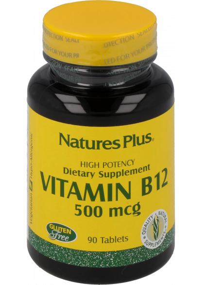 Natures Plus Vitamin B-12 (Methylcobalamin) 500mcg 90 Tabletten (54g)