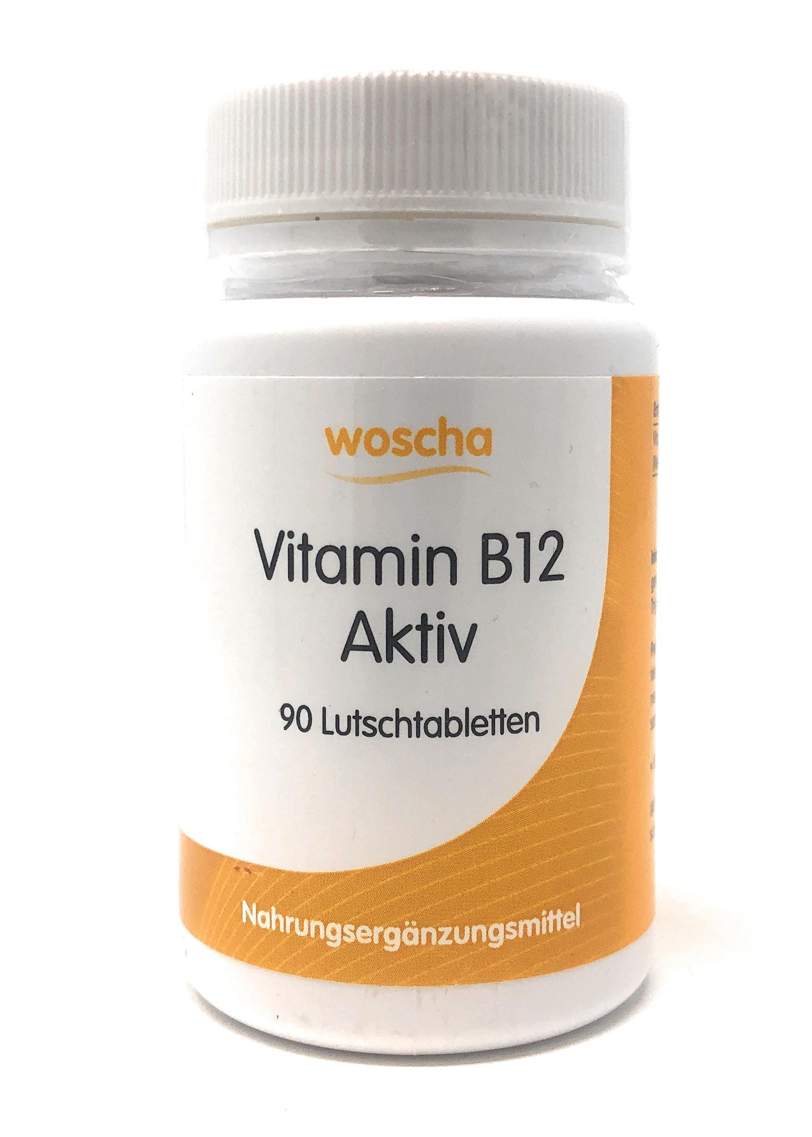 woscha B12 Aktiv (Methylcobalamin) 90 Lutschtabletten (53g) (vegan)