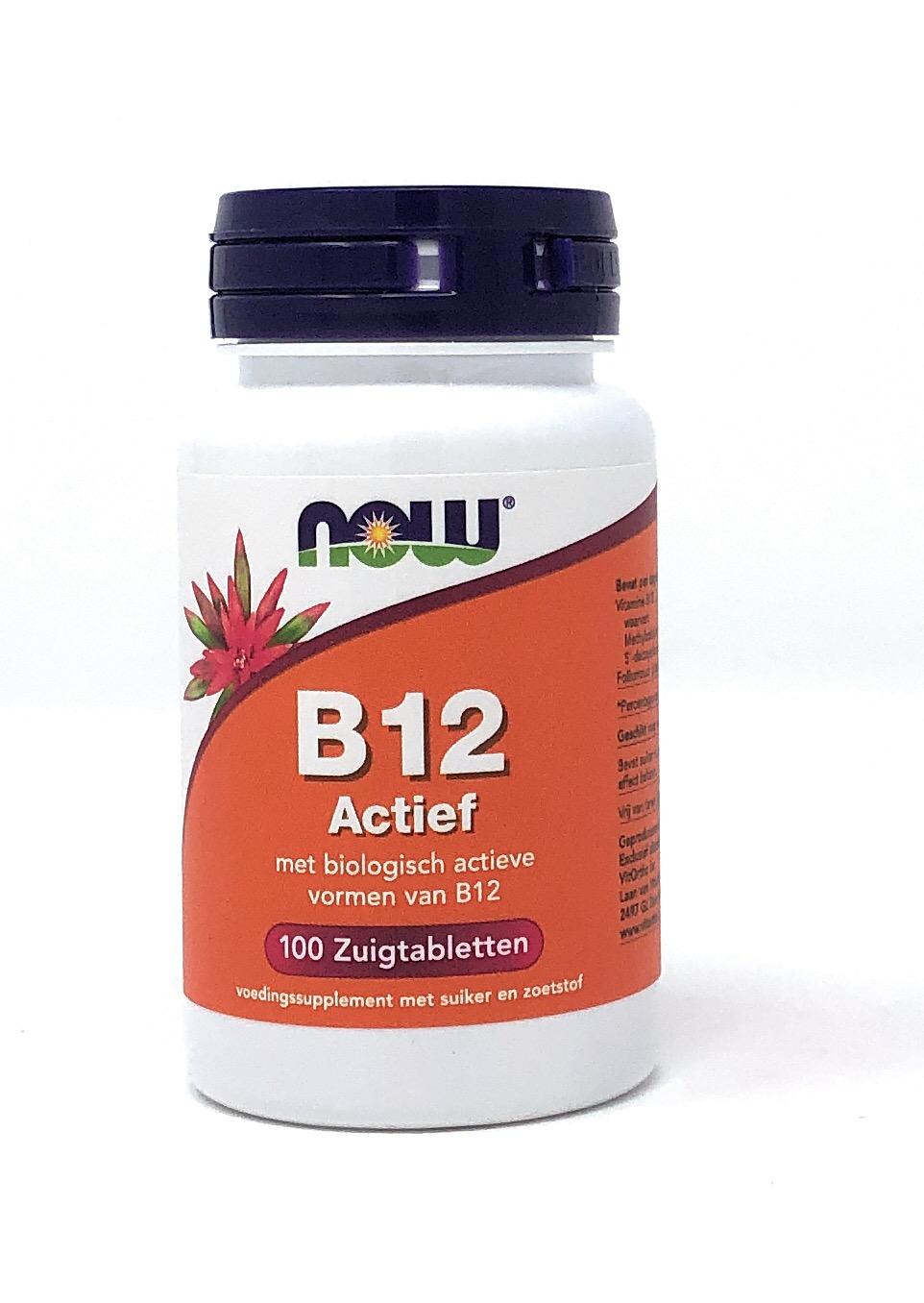 NOW Foods B12 Actief [Methyl- & Adenosylcobalamin] 100 Lutschtabletten (65g) (vegan)