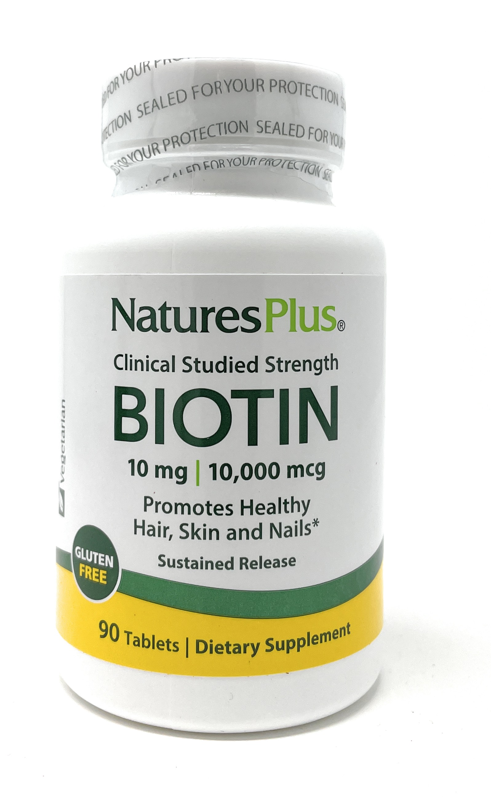Natures Plus Biotin 10mg Sustained Release 90 Tabletten