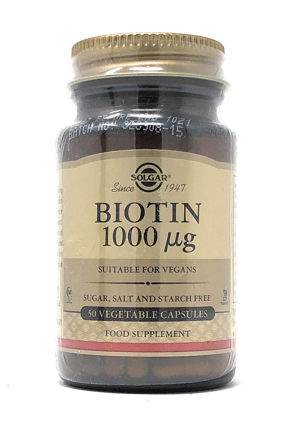 Solgar Biotin 1 (1000mcg) 50  veg. Kapseln