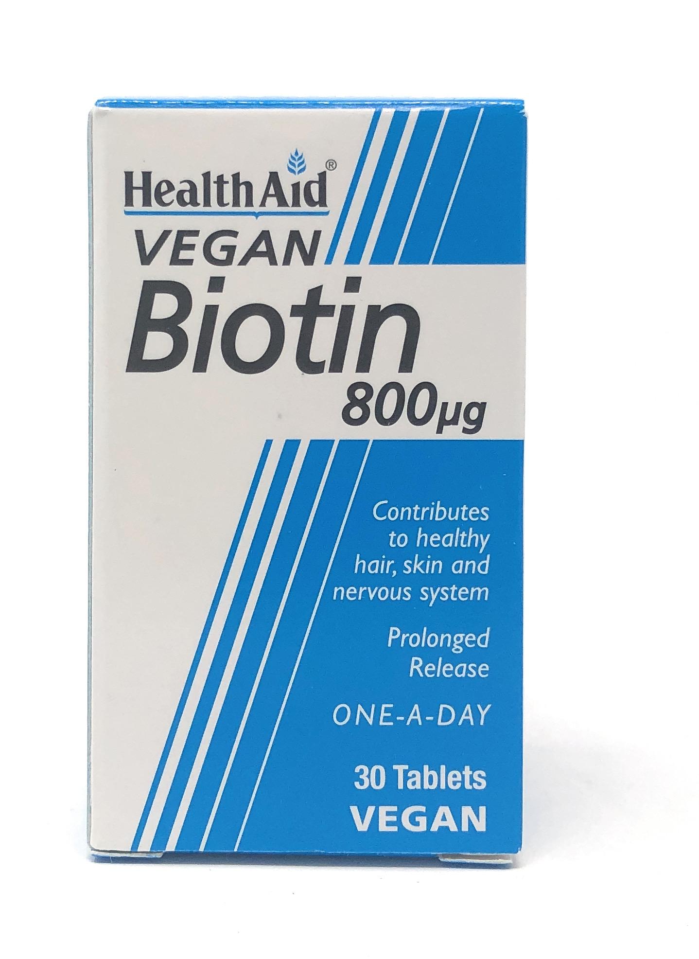 HealthAid Biotin 800mcg 30 Tabletten