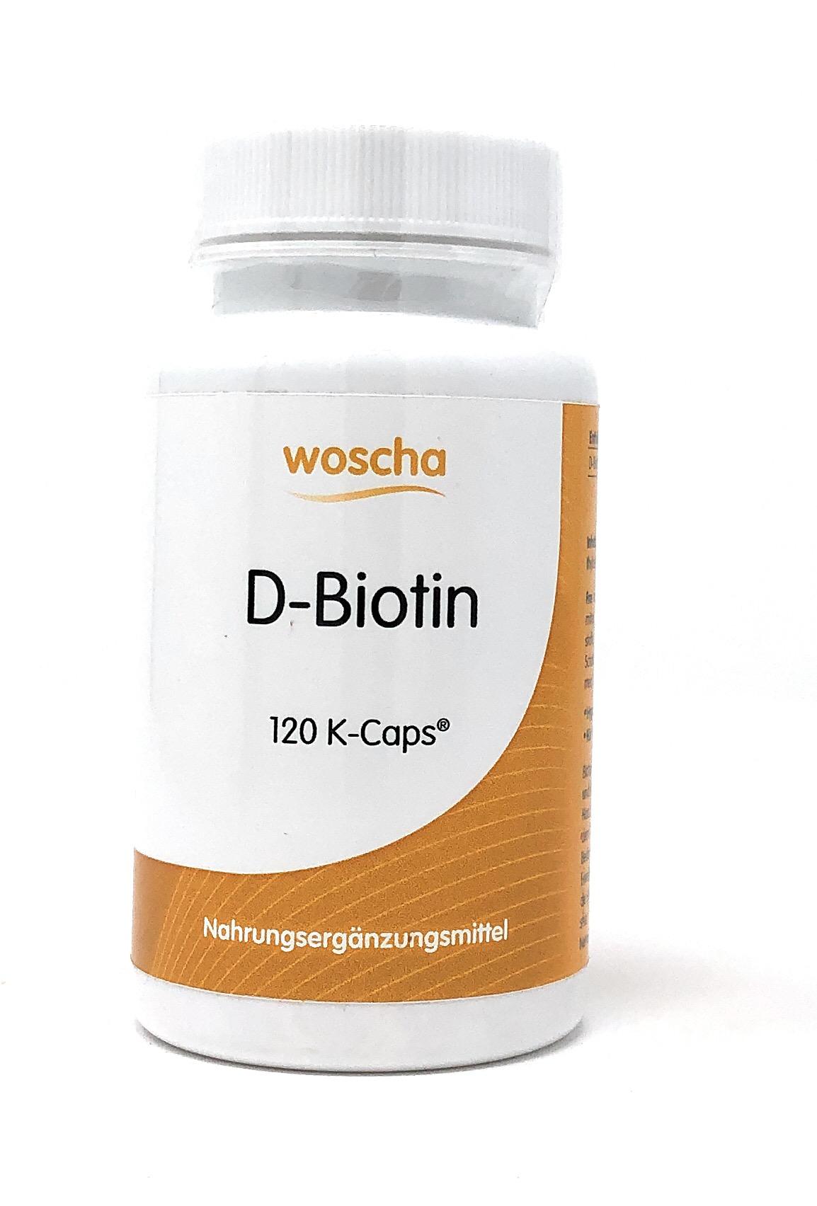 woscha D-Biotin 120 K-Caps (46g) (vegan)