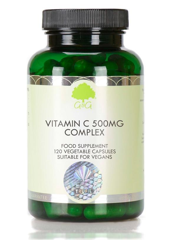 G&G Vitamins Vitamin C Complex 500mg 120 Kapseln (60,3g) (vegan)