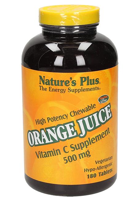 Natures Plus Orange Juice Vitamin C 500mg 180 Lutschtabletten