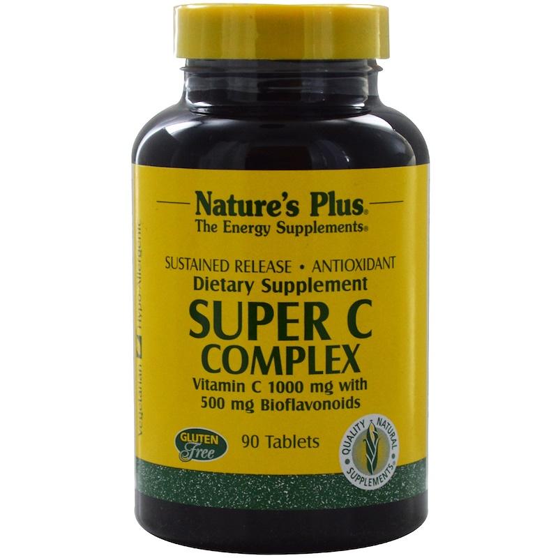 Natures Plus Super C Complex 1000mg S/R 90 Tabletten (205g)