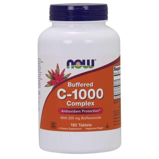 NOW Foods C-1000 Complex with 250mg Bioflavonoiden 180 Tabletten (vegan)
