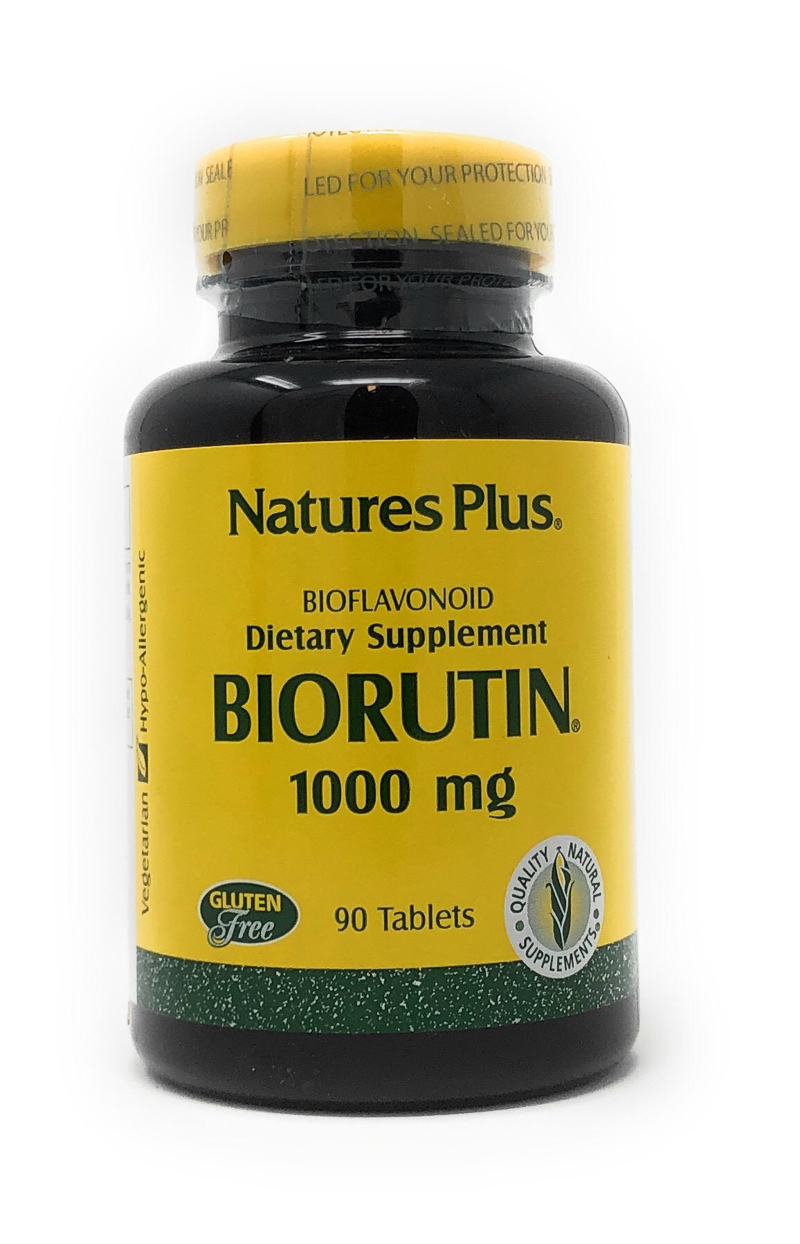 Natures Plus Biorutin 1000mg 90 Tabletten (130,1g)