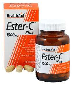 Health Aid Ester-C 1000mg Plus 30 Tabletten (vegan)