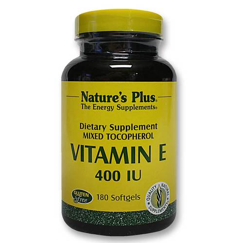 Natures Plus Vitamin E 400 IU Mixed Tocopherol 180 Softgels (144g)