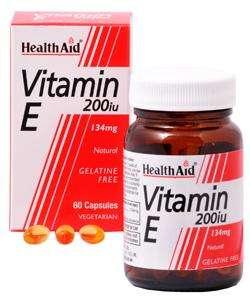 Health Aid Vitamin E 200iu Natural  60 veg. Kapseln