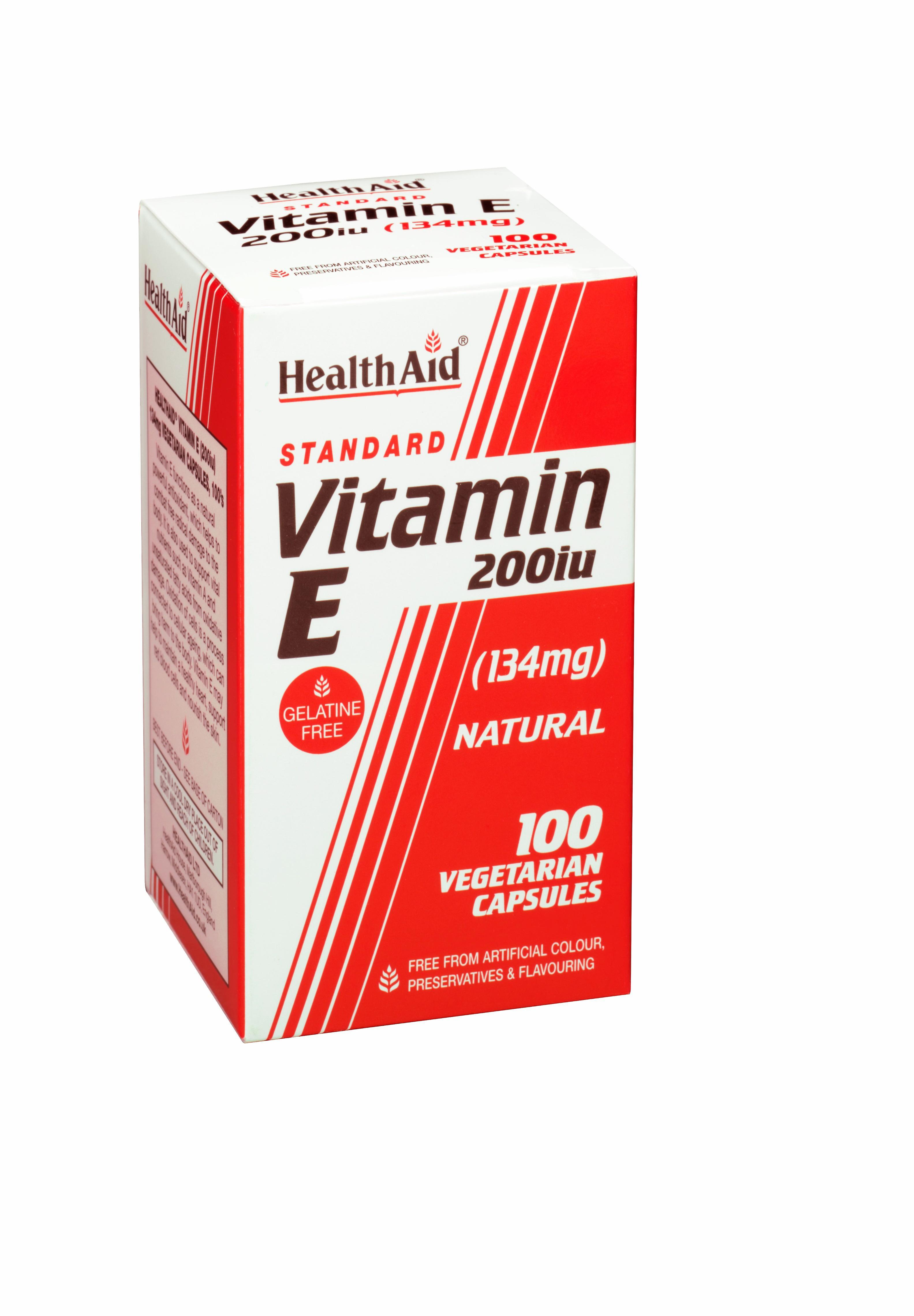 HealthAid Vitamin E 200iu Natural  100 veg. Kapseln