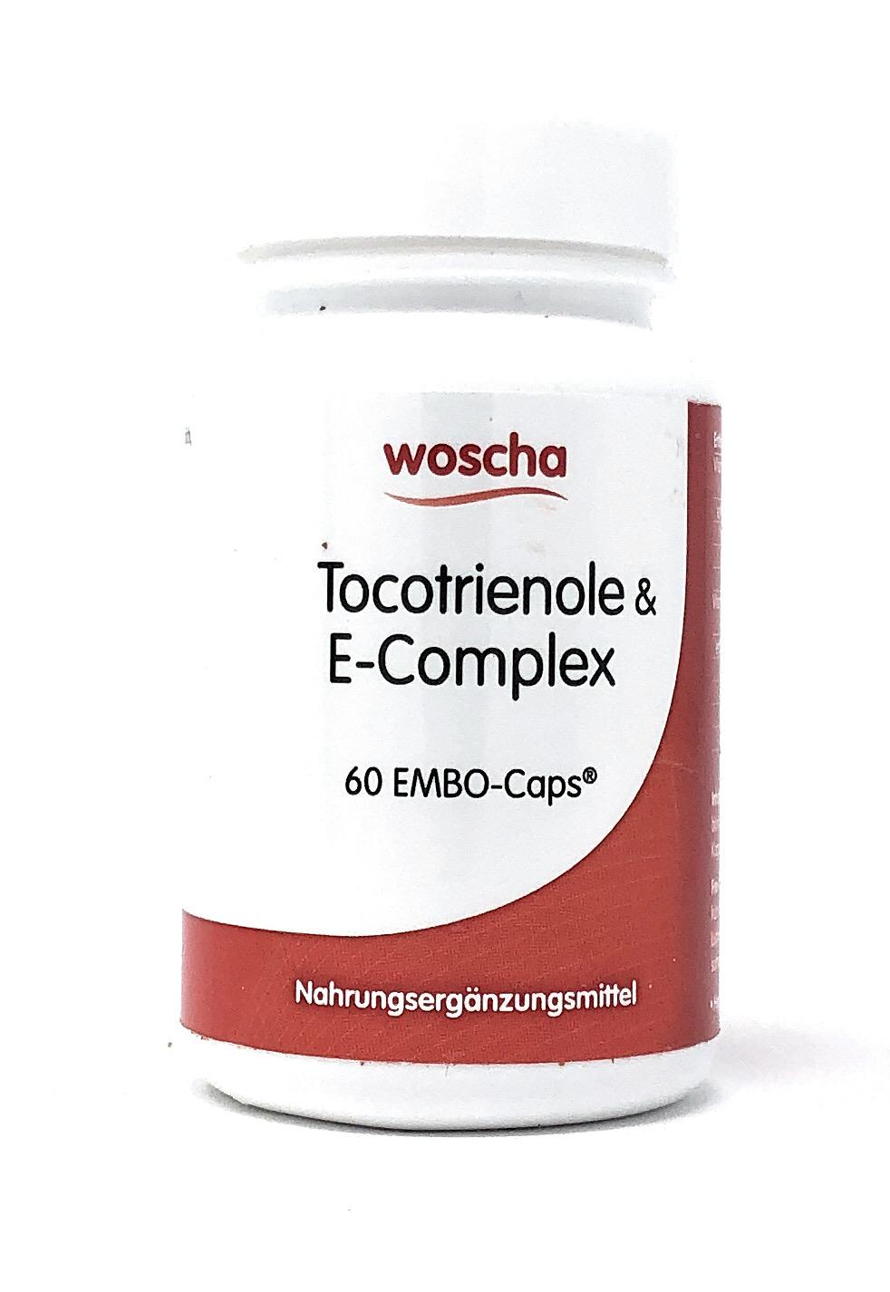 woscha Tocotrienole & E-Complex 60 EMBO-CAPS® (37g) (vegan)
