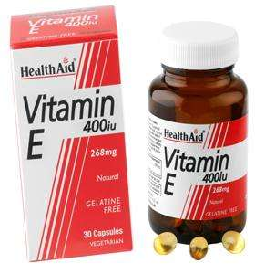 Health Aid Vitamin E 400iu (238mg) Natural  30 veg. Kapseln