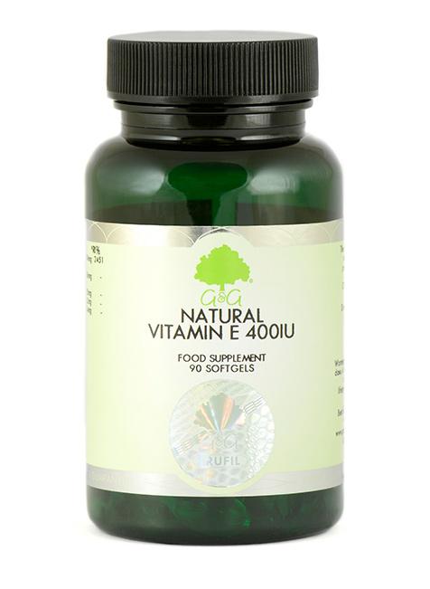 G&G Vitamins Natural Vitamin E 400IU 90 Softgels (55,4g)