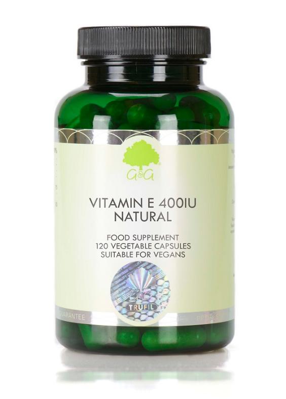 G&G Vitamins Vitamin E Natural 400IU 120 veg. Kapseln (44,2g) (Vegan)