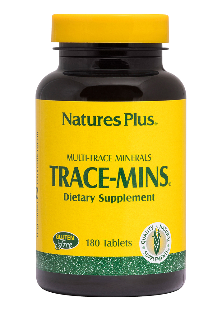 Natures Plus Trace Mins (Spurenelemente-Mischung) 180 Tabletten (168,8g)