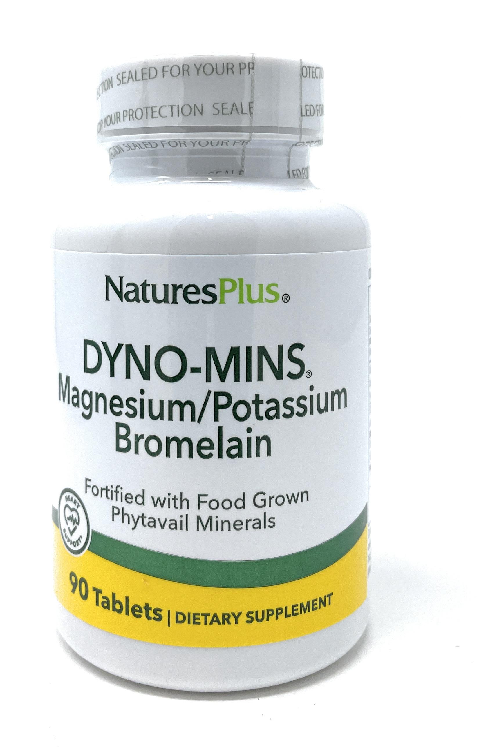 Natures Plus DYNO-MINS® Magnesium, Potassium and Bromelain 90 Tabletten (130,1g)