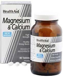 HealthAid Magnesium & Calcium 90 Tabletten (vegan)