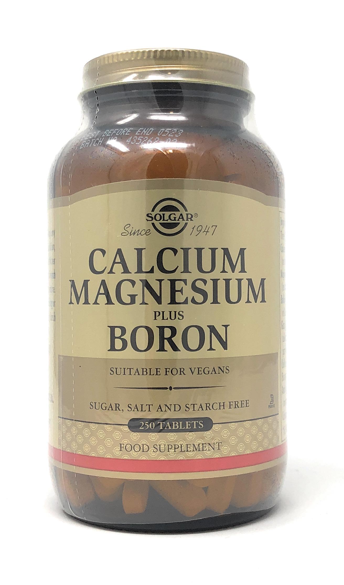 Solgar Calcium Magnesium Plus Boron 250 Tabletten (vegan)