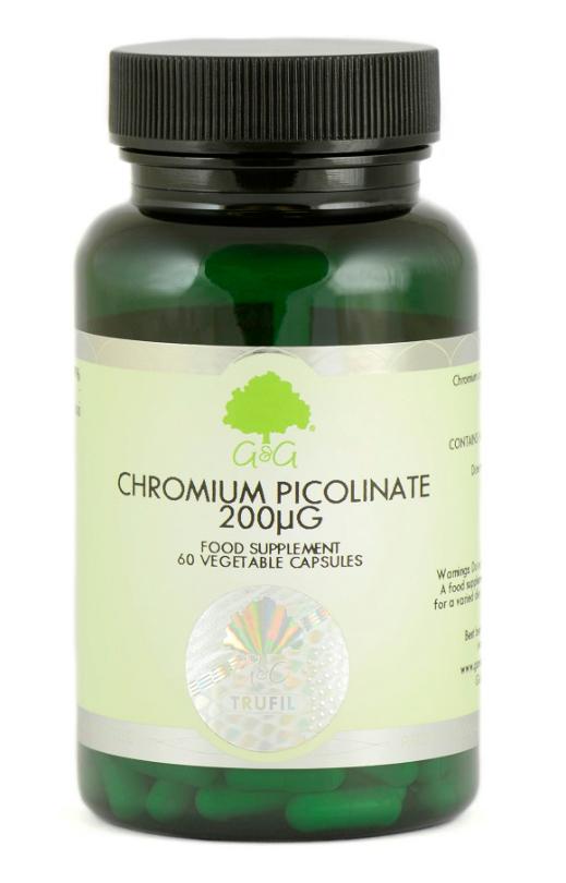 G&G Vitamins Chromium Picolinate 200mcg 60 veg. Kapseln (8,4g)(vegan)
