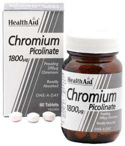 Health Aid Chromium Picolinate 200mcg (Chrompicolinat) 60 Tabletten (vegan)