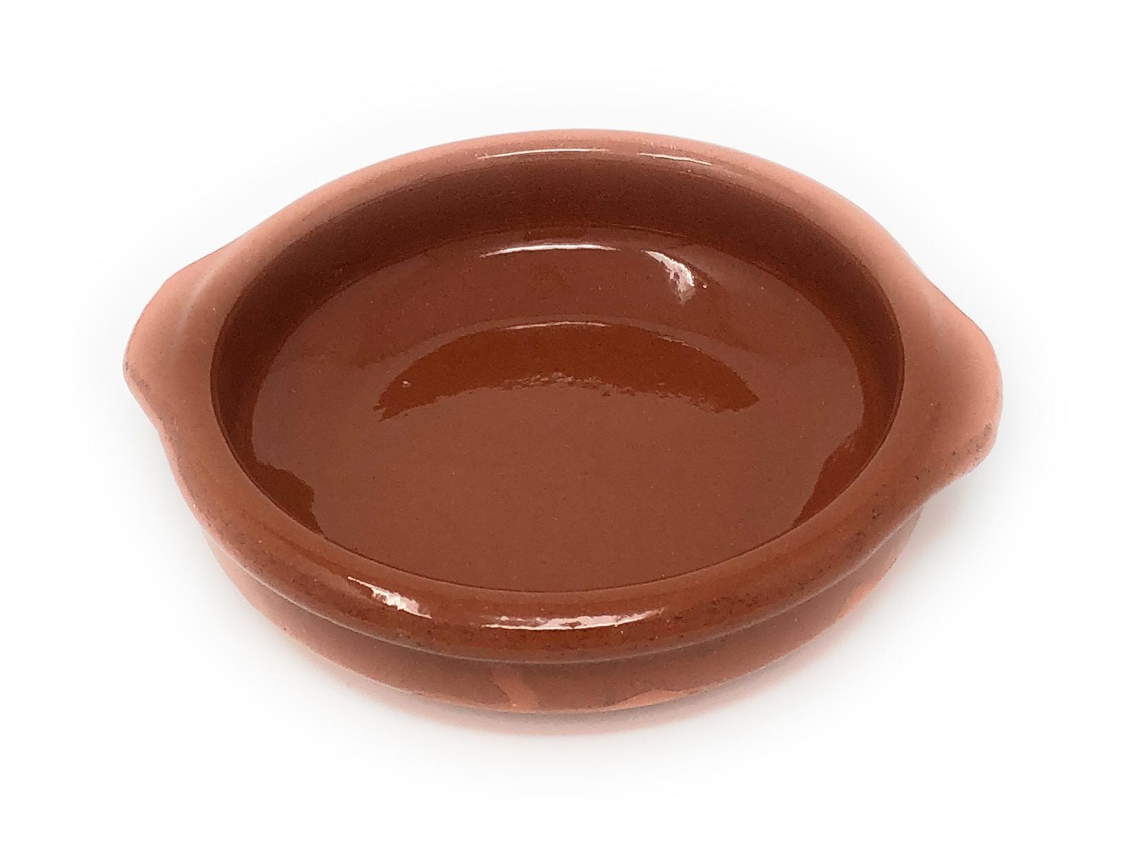 Alfareria Padilla Cazuela Tonschale rustikale Servierschale klein, traditionel, flach, rund, braun 12 cm