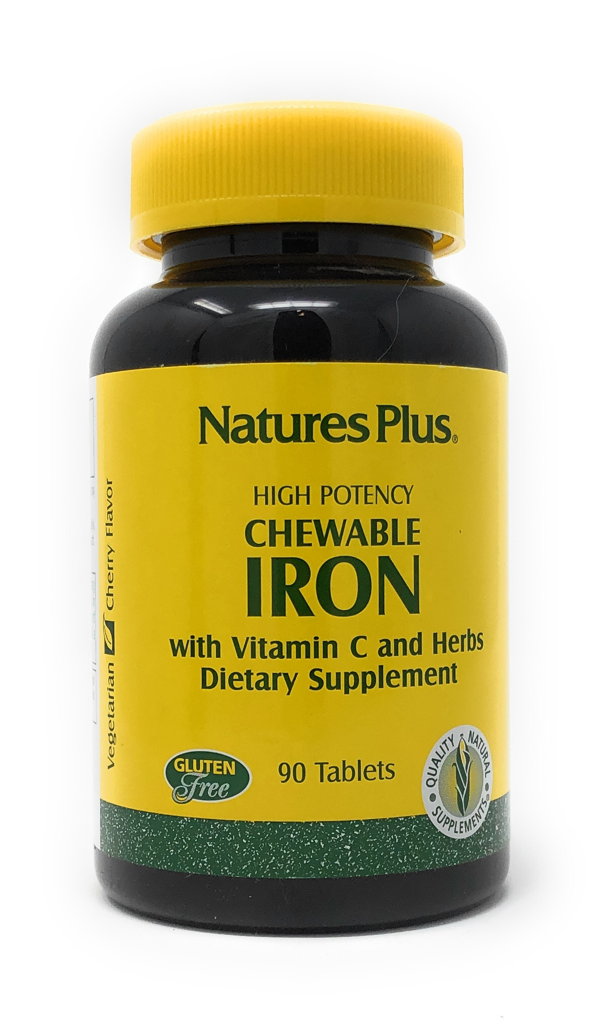 Natures Plus Chewable Iron w/Vitamin C & Herbs (27mg Eisen) 90 Lutsch-Tabletten (143,2g)