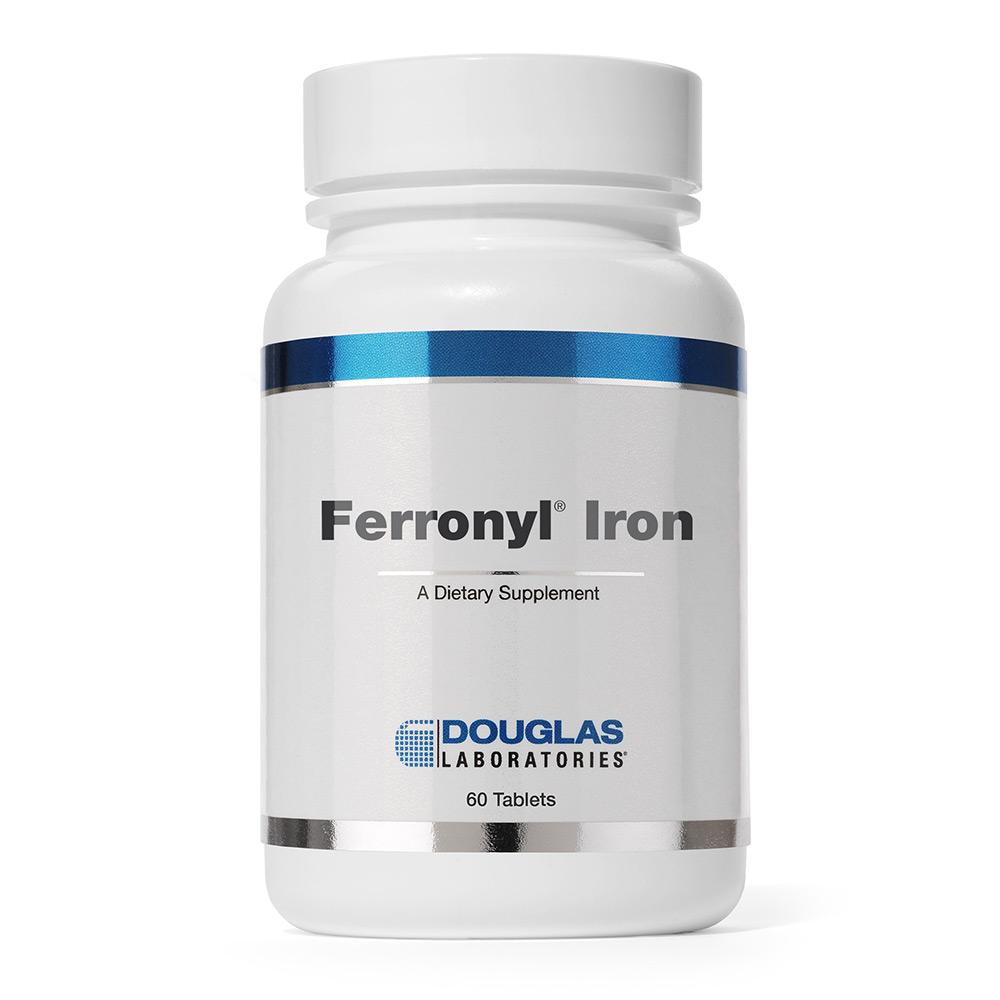 Douglas Labs Ferronyl Iron - 27mg Eisen mit Vitaminen 60 Tabletten