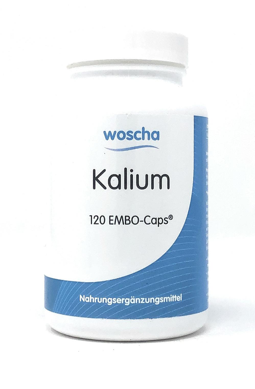 woscha KALIUM 120 Embo-Kaps (100g) (vegan)