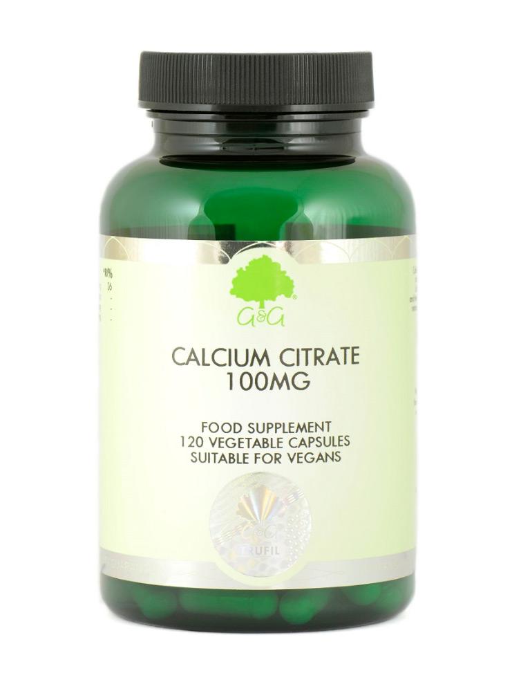 G&G Vitamins Calcium Citrate 100mg 120 veg. Kapseln (72,1g)(vegan)