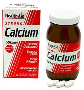 Health Aid Calcium 600mg 60 Kautabletten