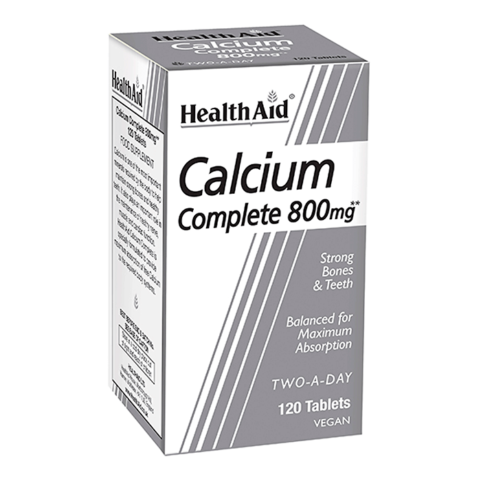 HealthAid Calcium Complete 800mg 120 Tabletten (vegan)