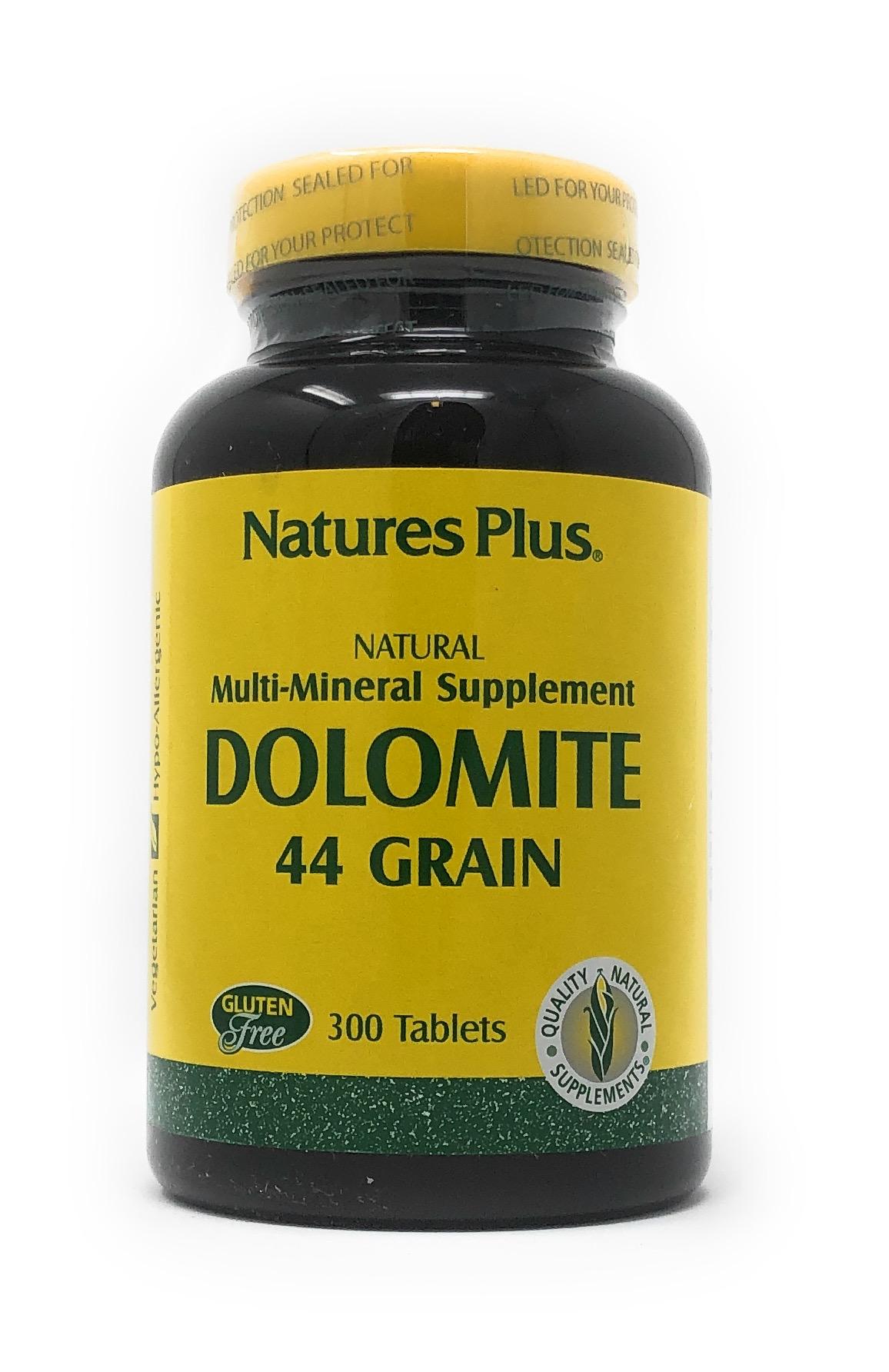 Natures Plus Dolomite 44 Grains 300 Tabletten