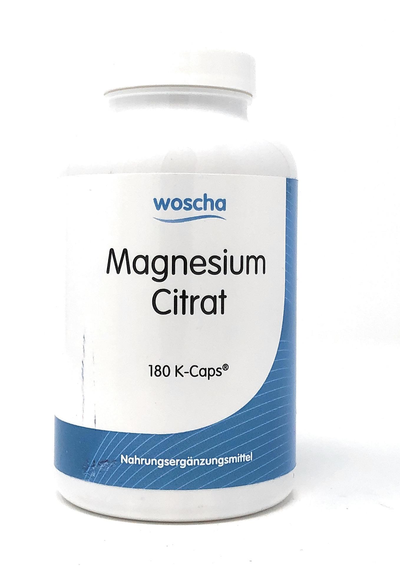 woscha Magnesium Citrat 180 Embo-Caps (181g) (vegan)