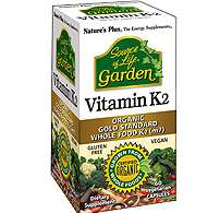 Nature's Plus Source of Life® Garden[TM] Vitamin K2 120mcg 60 Vcaps® (vegan) (48,5g)