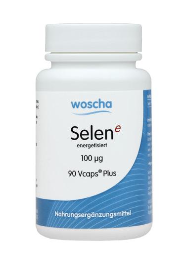 woscha Selen E energetisiert 100mcg (Natriumselenit) 90 Vcaps®Plus (36g) (vegan)