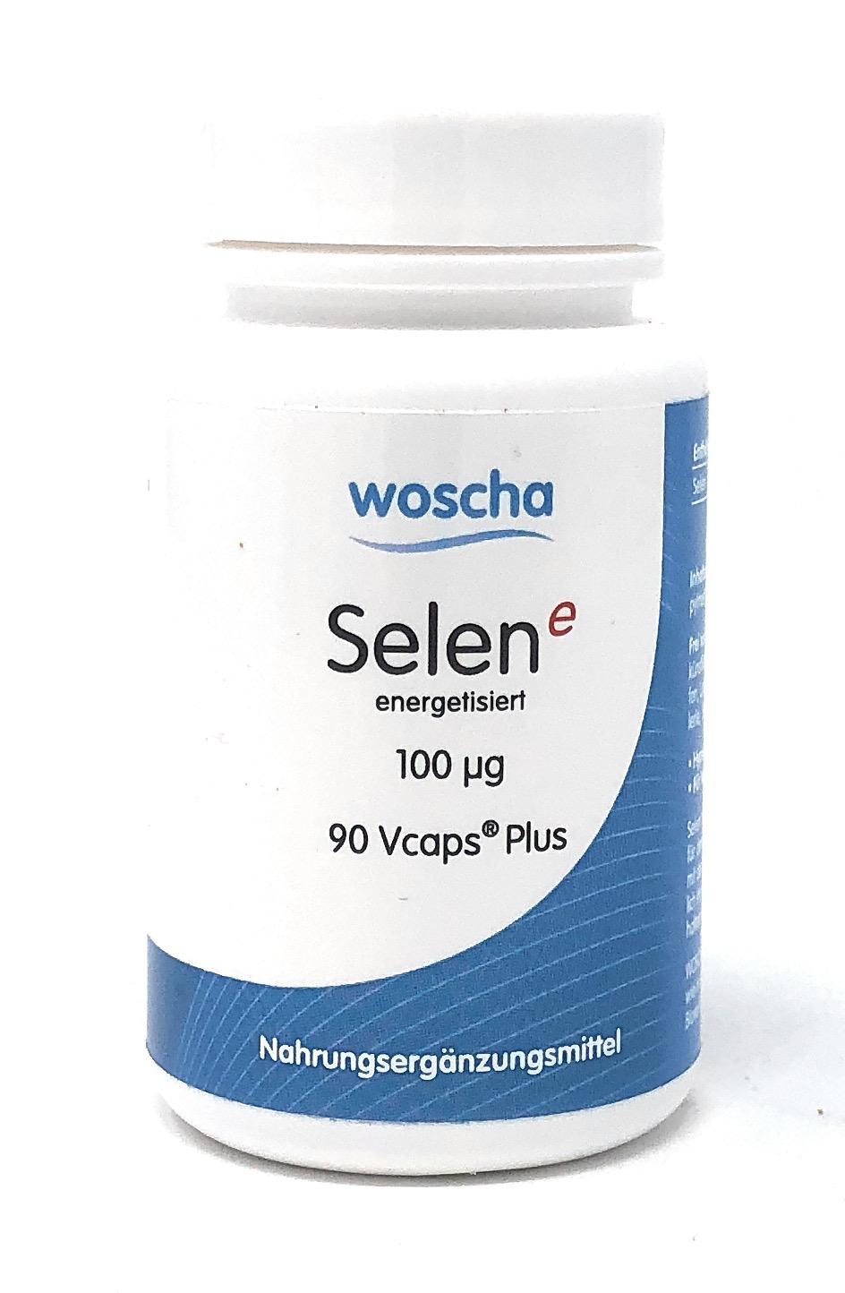 woscha Selen E energetisiert 100mcg (Natriumselenit) 90 Vcaps®Plus (35g) (vegan)