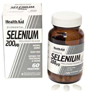 Health Aid Selenium 200mcg (Selen) S/R 60 Tabletten (vegan)