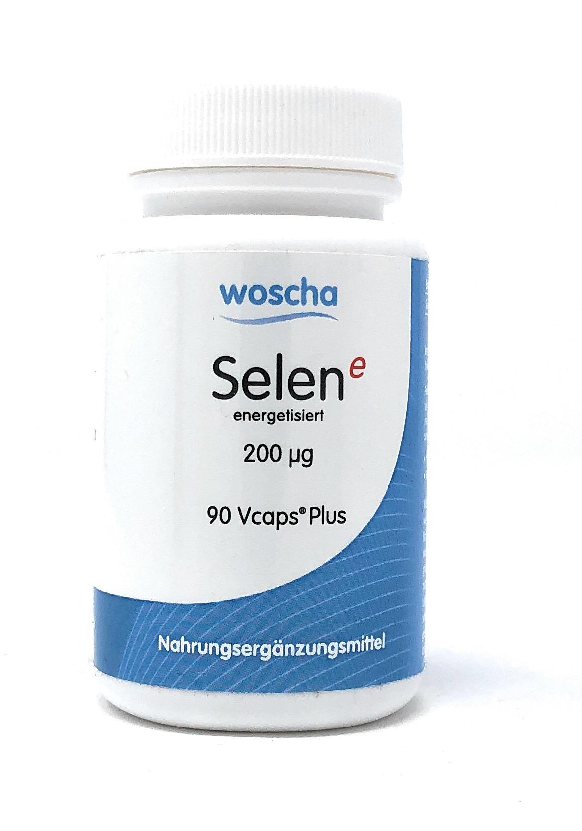 woscha Selen E energetisiert 200mcg (Selenmethionin) 90 Vcaps®Plus (18g) (vegan)