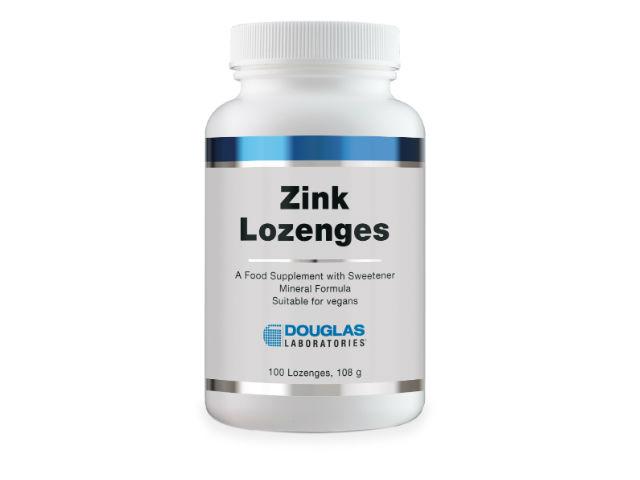 Douglas Laboratories Europe Zinc Lozenges 10mg (Zinkglycinat) 100 Lutschtabletten (108g)