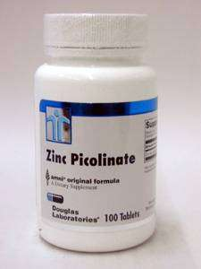 Douglas Laboratories Europe Zinc Picolinate (20mg Zink als Zinkpicolinat) 100 Tabletten (26g)