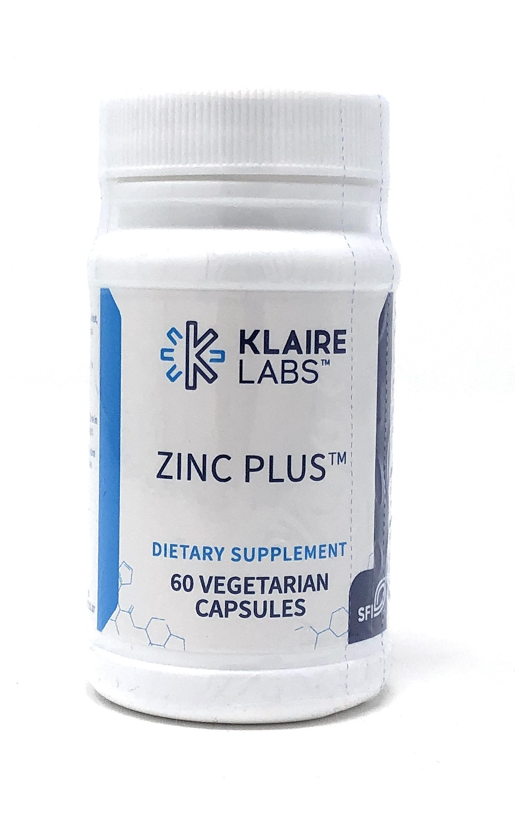 Klaire Labs Zinc Plus (15mg Zinkcitrat) 60 veg. Kapseln (18g)