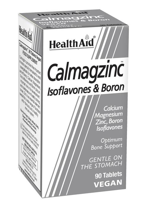 HealthAid Calmagzinc (Cal, Mag, Zinc, Boron) 90 Tabletten (vegan)