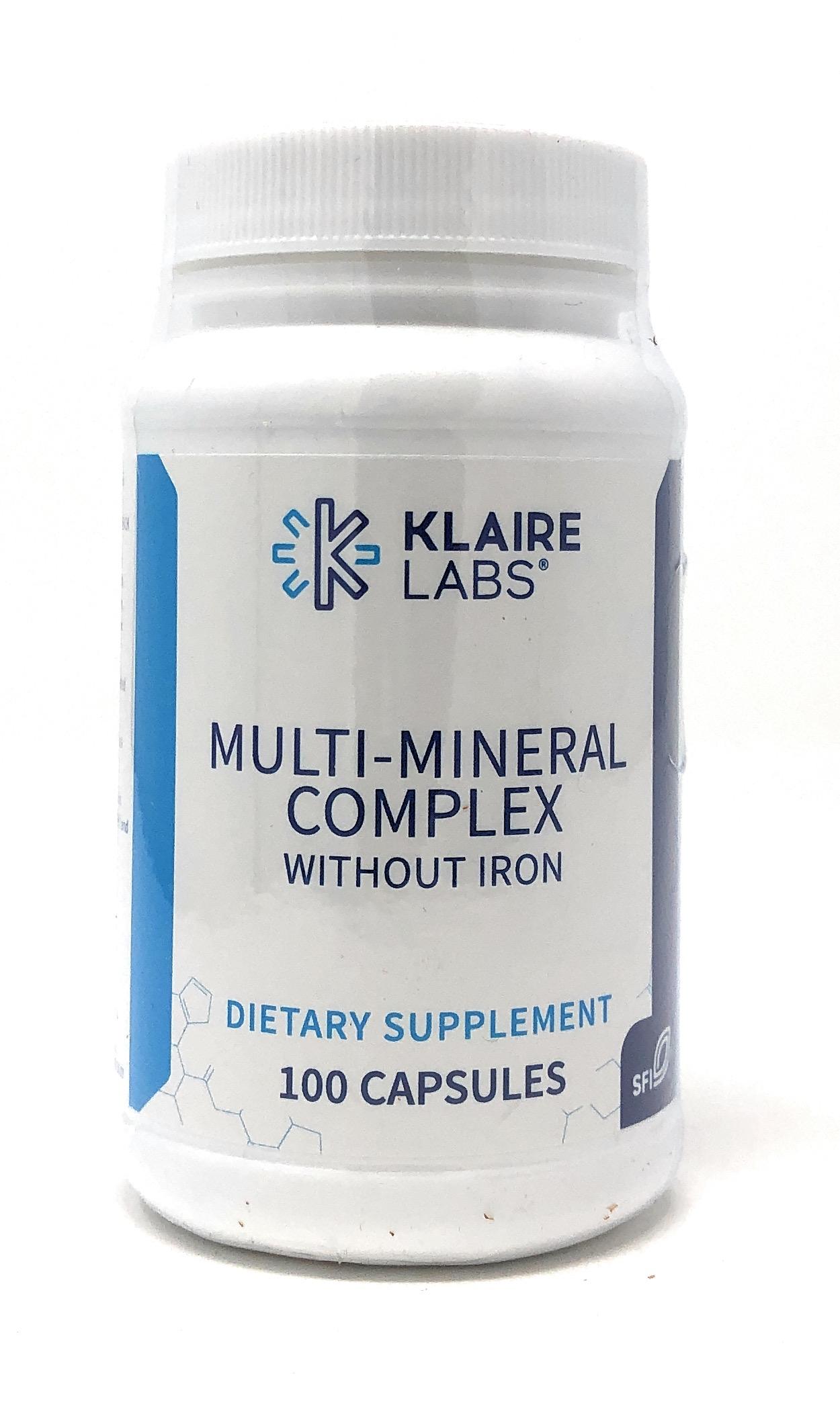 Klaire Labs Multi-Mineral Complex w/o Iron (ohne Eisen/Jod) 100 veg. Kapseln (61g)